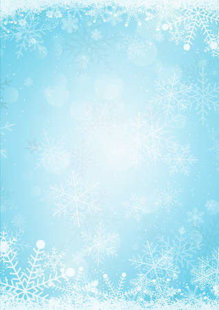 Light blue winter new year and christmas holiday paper background