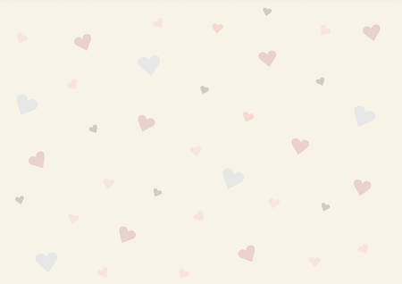 vintage background: Vintage heart paper background