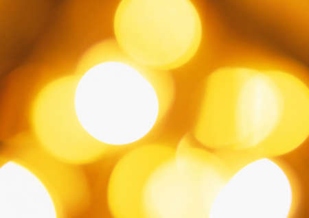 city lights: Golden city bokeh lights at night
