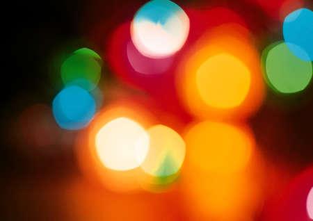 city lights: Colorful city bokeh lights at night