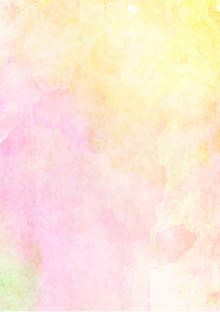 Soft yellow and pink watercolor paper background
