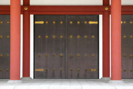 house with style: asian traditional building gate door with knob