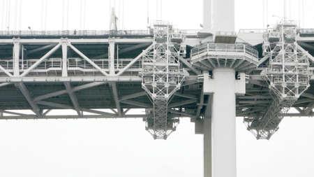 brige: Closeup Japan Tokyo gray brige with textured detail