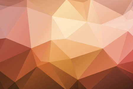 Polygonal geometric abstract textured background mixed orange and yellow gradient colours