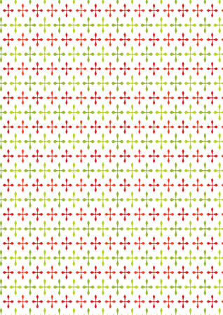 green cross: Vertical red and green cross texture Christmas paper background