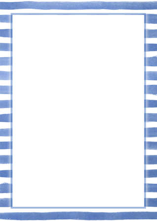 navy blue background: Vertical ocean navy blue painting strip pattern blank background Stock Photo