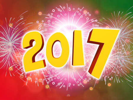 happy new year 2017 celebration party background with firework stock photo 67433730