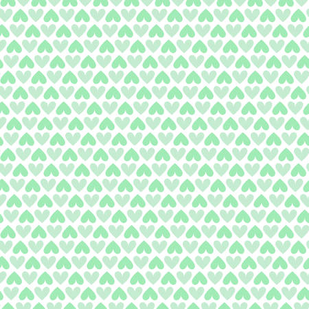 green heart: Green heart seamless pattern packaging paper background in vector format Illustration