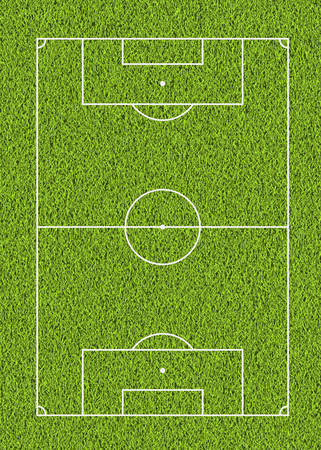 soccer field: Outdoor soccer line and green grass field background for the mockup