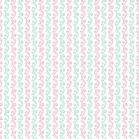 white bacground: Seamless Pastel pink and the green textured pattern gift wrapping paper background Illustration