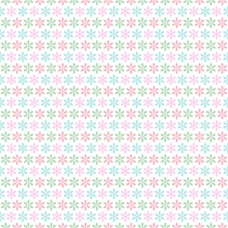 Seamless Pastel pink and the green flower pattern gift wrapping paper background Illustration