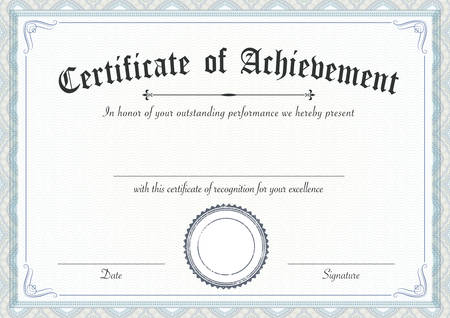 a3: A3 international paper size - Classic and retro certificate of achievement paper template, it's ready to use