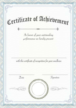 A3 international paper size - Vertical classic and retro certificate of achievement paper template, it's ready to use