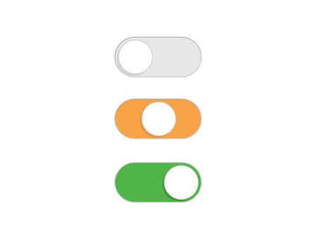 Flat simple On and Off Toggle switch button vector format