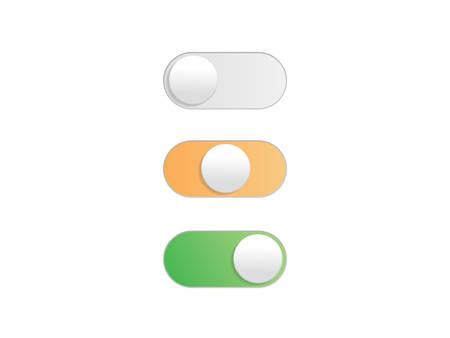 Professional gradient On Off Toggle switch button vectorformat