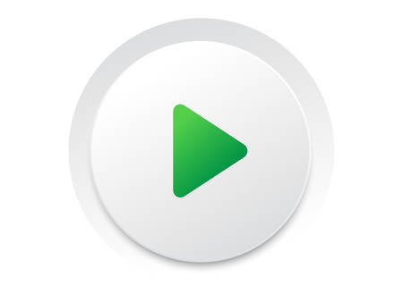 Simple circle play UI switch button vector vector format