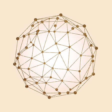 globe grid: Vector digital social network and connection structure graphic
