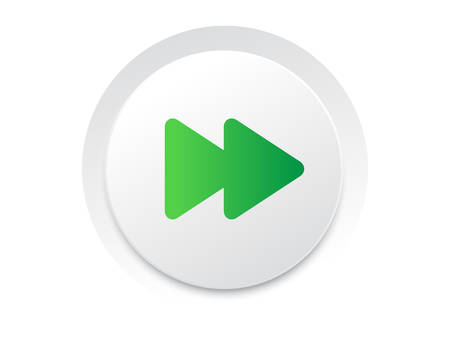 Simple UI music interface circle   fast forward button vector format