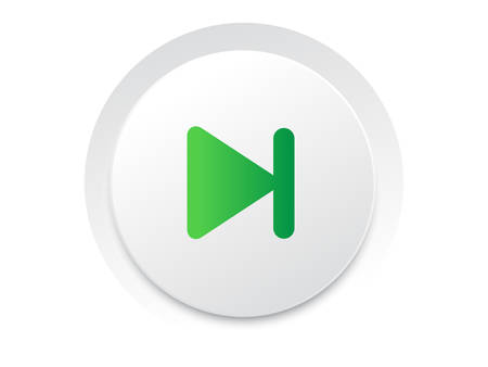 Simple UI music interface circle Next button vector format