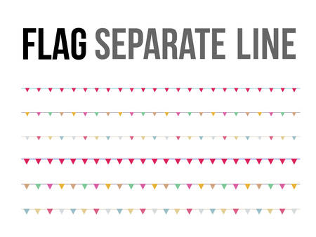 Colorful flag separate line for design layout component