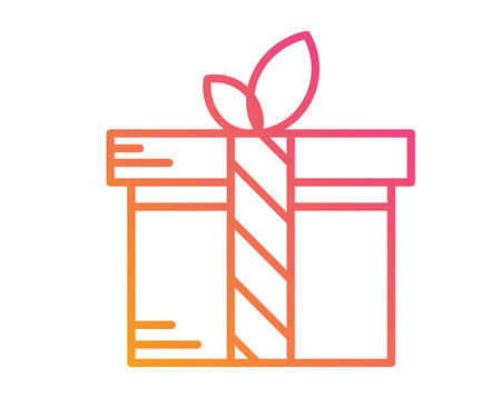 svg: Colorful gradient holiday gift box.