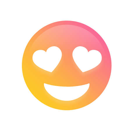 The Emoji glitter golden people face with heart eyes