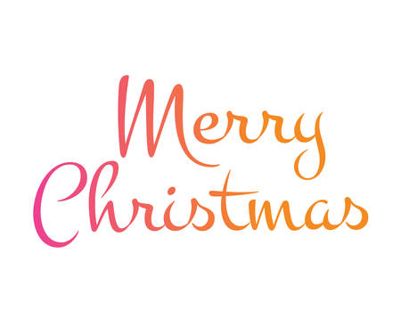 The Gradient isolated hand writing word Merry Christmas.