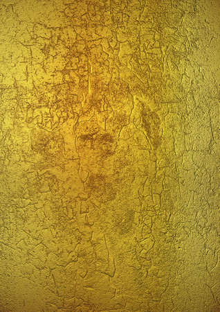 The vertical golden blank textured metallic paper background Stock Photo