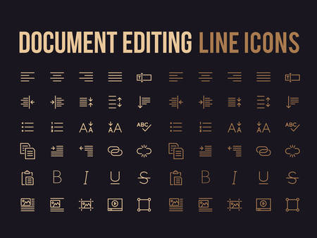 Document text editing vector line icon for the app, mobile website responsive.