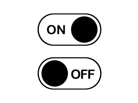 Simple on and off toggle switch flat icon