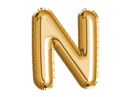 The golden alphabet N air balloon for baby shower celebrate decoration party Illusztráció