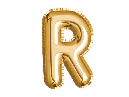 The golden alphabet R air balloon for baby shower celebrate decoration party