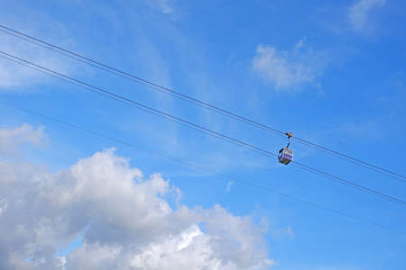 Cable car for sight seeing in Hong Kong