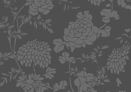 The traditional dark gray Asian flower textured background