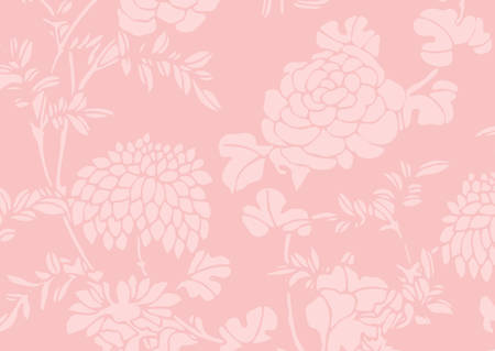 The traditional pink gradient Asian flower textured background Illustration