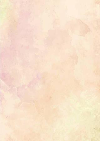 Le fond de papier de pinceau d'encre aquarelle orange pastel