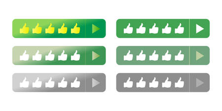 The website mobile responsive rating feedback flat icon call for action vector button Çizim