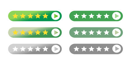 The website mobile responsive rating feedback flat icon call for action vector button Иллюстрация