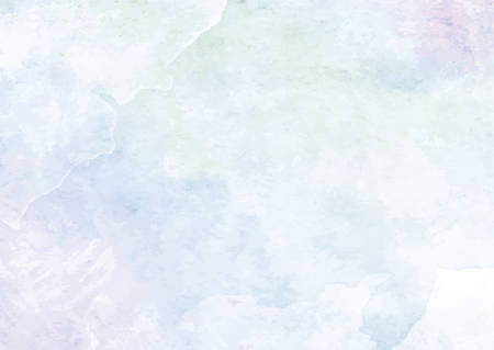 The pastel baby blue watercolor ink brush paper background