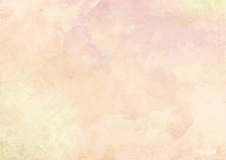 The pastel orange watercolor ink brush paper background Illustration