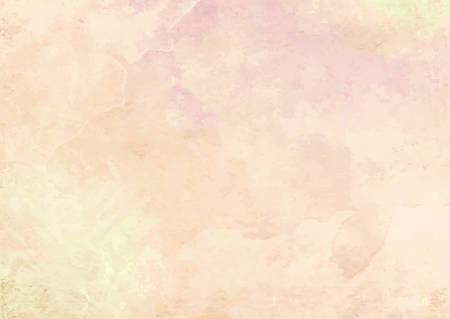 The pastel orange watercolor ink brush paper background Ilustração