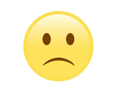 yellow sad and unhappy face icon