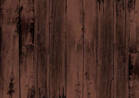 La texture du bois brun foncé