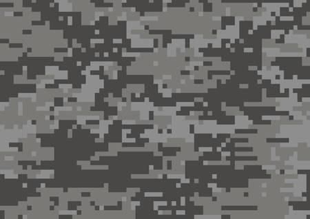 Ciemnoszary wojskowy kamuflaż teksturowany w tle Ilustracje wektorowe