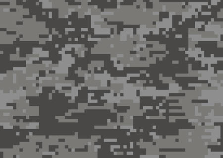 The dark grey military camouflage textured background Vetores