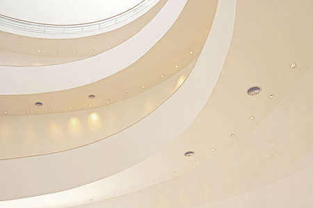 The interior design of city hall building with indoor curve frame and spotlight