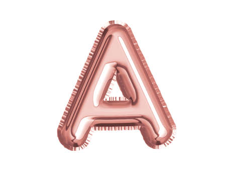 The rose gold pink alphaet A air balloon decoration for baby shower birthday celebrate party