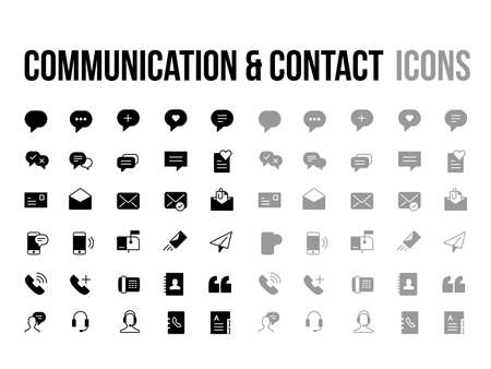 Customer support, contact, messaging, communication vector icon - app and mobile web responsive