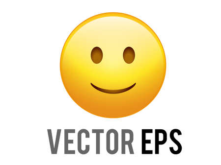 The isolated vector gradient yellow smiley face icon