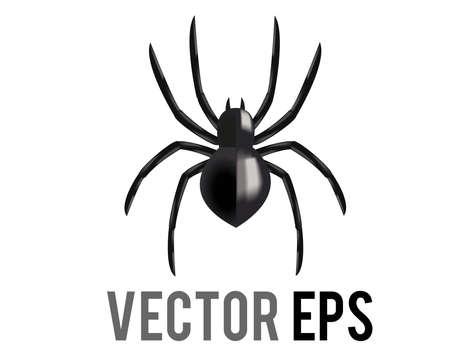 The vectot black eight legged arachnid or spider icon